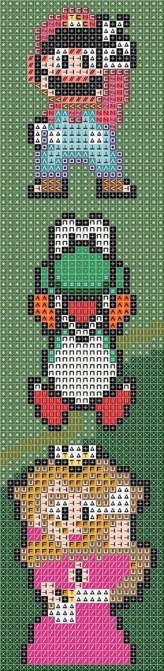 Mario Brothers Totem Cross Stitch