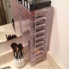 My lovely little makeup station :) so easy and organized