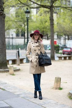 Burberry trench coat and Balmuir felt hat