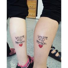 """You're my person."" 