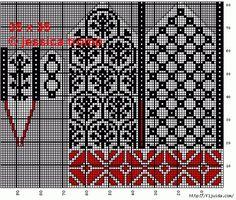 View album on Yandex. Knitted Mittens Pattern, Knit Mittens, Knitted Gloves, Knitting Socks, Knitting Charts, Knitting Stitches, Knitting Patterns, Crochet Patterns, Stitch Book