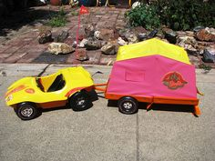1972 Barbie Dune Buggy & Tent Trailer