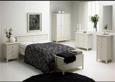 Modern White Bedroom Furniture - Bedroom A White Bedroom Furniture Girl, Simple Bedroom Design, White Bedroom Decor, Bedroom Furniture Design, White Furniture, Bedroom Ideas, Bedroom Designs, Bedroom Inspiration, Wood Furniture