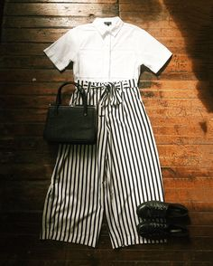 Found at Common Sort - Topshop buttondown, Zara trousers, vintage purse and leather converse