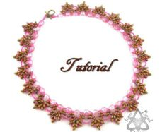 PDF Tutorial Willow Necklace with Super Duo beads, beading pattern. English Only,