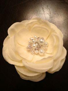 The One Where I Made a Flower Hairpiece :  wedding charleston diy hair tutorial Hairclip hairclip