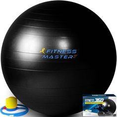 Exercise Ball, Anti Burst, Stability Exercise Fitness Black Clever Yoga Ball HEAVY DUTY EXERCISE BALL - Fitness 360 is meticulously made of professional grade Anti-Burst , Anti-Slip, Phthalate Free Material, providing athletes with the ultimate support and durability. ACCELERATE YOUR CORE WORKOUT - Fitness 360 is perfect for Athletes - Men - Women looking to gain killer 6-pack abs, strengthen the abdominal, thigh muscles, fix back problems and gain a more functional core. PERFECT FOR…