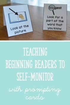 Use visual reminders to help beginning readers self-monitor! Having just one or two strategy cards in front of a student while she is reading can be super helpful. Download these cards for FREE here: http://learningattheprimarypond.com/blog/teaching-beginning-readers-to-self-monitor/