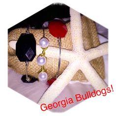 UGA University of Georgia Bulldogs wire wrapped bangle set by BanglesandBurlapFL on Etsy https://www.etsy.com/listing/243385945/uga-university-of-georgia-bulldogs-wire
