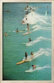 Surfing with Longboards Posters na AllPosters.com.br