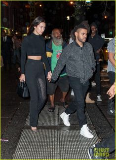 The Weeknd & Bella Hadid Hold Hands at Rihanna's Party