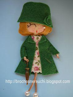 BROCHES NEREUCHI: Broches muñequitas                                                                                                                                                                                 Más
