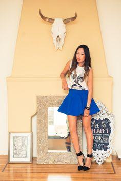 Best blue skirt