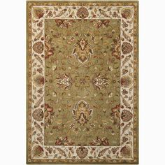 You'll love the Bartz Green/Tan Kashan Area Rug at Wayfair - Great Deals on all Rugs products with Free Shipping on most stuff, even the big stuff.