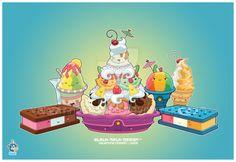 Kawaii Frozen Desserts Group by KawaiiUniverseStudio.deviantart.com on @DeviantArt