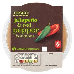 Tesco Jalapeno And Red Pepper Houmous 182G