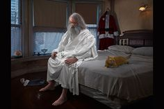Photographer and pop surrealist Dina Goldstein's large-scale project titled Gods of Suburbia features a collection of deities and religious figures set within the context of modernity. Buddha, Mohammed, Satan, and others exist alongside technology, science, and secularism as it rel