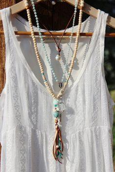 long beaded tassel necklace diy - Google-søk
