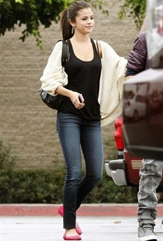 Selena Gomez carrying a Tracy Zych Edie Tote.