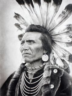 Salish chief wore a headdress of highly prized golden eagle feathers, which signify that he was oiutstanding in battle. A complete tail of twelve eagle feathers could be traded for a pony - Native American