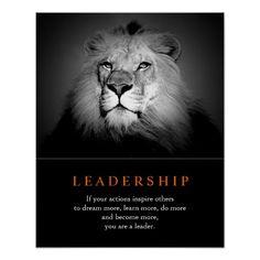 Trendy Motivational Leadership Lion Poster