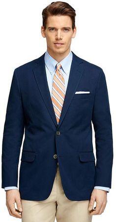 Fitzgerald Fit Two-Button Cotton Blazer