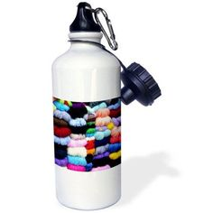 3dRose Wool and yarn textiles, Cuzco, Peru - SA17 BBA0053 - Bill Bachmann, Sports Water Bottle, 21oz