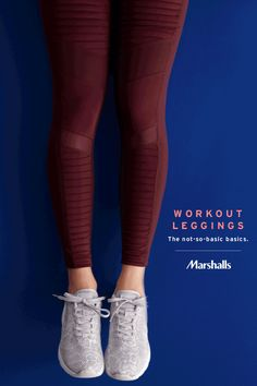 Even the essentials can have some fun. Look for performance ankle leggings with lots of new updates. Fabric blocking, mesh panels, and bandage-style detailing. You'll love the flexible materials in new colors like deep wine. Pair with le Workout Attire, Workout Wear, Athletic Outfits, Athletic Wear, Sweater Weather, Cute Hipster Outfits, Gym Style, Oui Oui, Workout Leggings