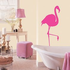 Pink Flamingo Wall Art ~ my Mom would have so loved this!