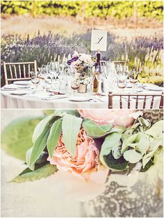 my gorgeous reception tables at St. Francis Winery overlooking the lavender and vineyards