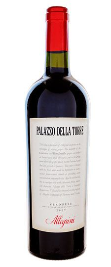"""Allegrini Palazzo della Torre 2007 (Italy): """"Enticing scents... make sure that this will drink well for a number of years. Made from 70% Corvina, 25% Rondinella and 5% Sangiovese, all traditional Veneto grapes. Approximately 30% of the fruit is air-dried, Amarone-style. The fermenting juice from those grapes is added to the rest of the juice to give the wine an extra dimension of richness and body. Anticipated maturity: 2012-2017."""""""