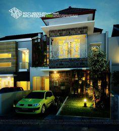 Desain Rumah Tropis 2 Lantai Novi2 #Arsitek #DesainRumah #Architecchi
