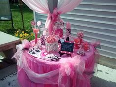 Annie's 1st birthday, Minnie Mouse candy buffet