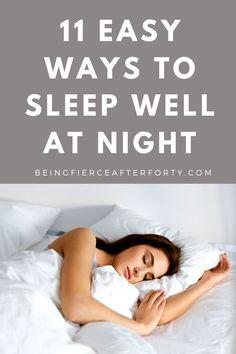 11 easy ways to fall asleep fast every night, sleep affirmations, sleep yoga, essential oil blends for sleep