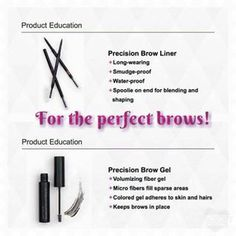 eye brow pencils and gel younique - Google Search