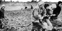 Donauschwaben women pulling a plow during their 5 year forced labor in Soviet Union as war reparations, ca. 1945 [504x256] - Imgur
