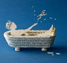 Su Blackwell& charming paper sculptures transform books into fantastical three-dimensional form. Altered Books, Altered Art, Book Crafts, Paper Crafts, Book Sculpture, Paper Sculptures, Cool Books, Collage, Art Plastique