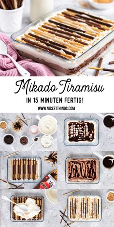 Mikado Dessert: Mikado Tiramisu mit Nougat und Vanille - Nicest Things - Mikado Dessert Mikado Tiramisu Rezept Mikado Dessert Mikado Tiramisu Rezept Mikado Dessert Mikado T - Desserts Nutella, Chocolate Desserts, Cheesecake Recipes, Dessert Recipes, Tiramisu Dessert, Dessert For Two, Thermomix Desserts, Quick Easy Desserts, Cream Cheese Recipes