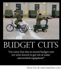 Budget Cuts : Effects Everyone! - GagTown