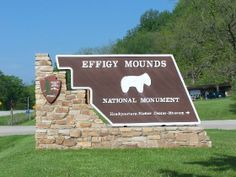 Effigy Mounds National Monument holds hundreds of earthen mounds that were built by an ancient American Indian culture. Eastern Woodland Indians built mounds from about 500 B.C. until the early European contact period. Only in this region of the Upper Midwest was there a culture that regularly constructed effigy mounds in the shape of mammals, birds or reptiles. At this site there are 31 effigy mounds, plus 175 conical, linear and compound mounds. #INHF #Iowa