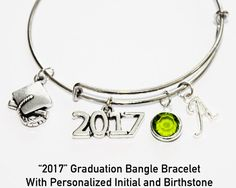 Graduation Gift. Bangle Bracelet. Graduation by JewelryImpressions