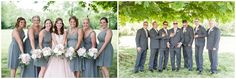 Tamara Jaros Photography 2015 Outdoor DIY Wedding Blush Wedding Dress Chicago, IL Photographer Bridal Party Portraits