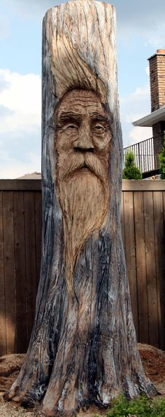Awesome tree stump art