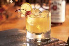 The Bourbon Sour made with Jim Beam.