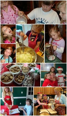 Christmas Kids in the kitchen