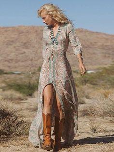 Boho Summer Casual Long Maxi Dress - GoGetGlam - 3