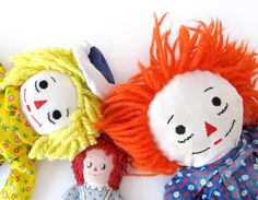 Raggedy Ann and Andy Starter Collection  Set of 3 by sushipotparts, $32.00