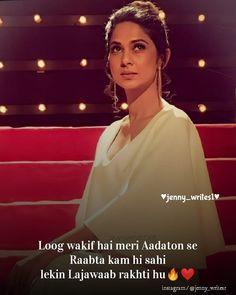 Love Attitude Status, Good Attitude, Hindi Attitude Quotes, Attitude Quotes For Girls, Urdu Quotes, New Love Quotes, Love Hurts Quotes, Love Picture Quotes, Crazy Girl Quotes