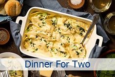 Take some time from your busy schedule for a good home-cooked meal with Chicken Broccoli Alfredo Stuffed Shells For Two with homemade Alfredo sauce. Click the picture for the recipe. Easy Home Cooked Meals, Healthy Meals For Two, No Cook Meals, Easy Dinner Recipes, Easy Meals, Healthy Recipes, Cheap Recipes, Cheap Meals, Easy Recipes For Two