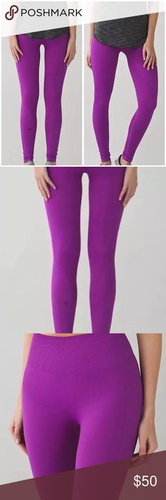 NWT! Lululemon Zone In Tight NWT- Lululemon Zone In Tight. This Lululemon tight is New With Tags and in the color Tender Violet. The size is 2 but is very stretchy so it would probably fit a 0, 2, 4 or 6! These tights were purchased for $128. Comes from a smoke free home. Please, let me know if you have any questions! lululemon athletica Pants Leggings
